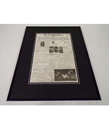 New York Times April 15 1970 Framed 16x20 Front Page Poster Crippled Apo... - $74.44