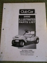 Vintage 2000 CLUB CAR DS ILLUSTRATED PARTS LIST 300 - $48.30