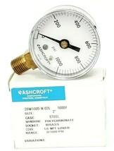 NIB ASHCROFT 20W1005 H 02L 1000 PRESSURE GAUGE 0-1000PSI 1/4 NPT 2'' IN