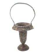 Antique Silverplated Repousse Basket Vase, Barbours International Silver... - $59.00