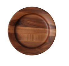 "Monote Rawood Acacia Wood Kitchen Serving Bowl Dish Platter Plate Set 11.8""  image 2"