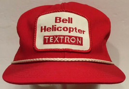 Vintage Bell Helicopter Textron Mesh Snapback Trucker Hat Cap Red Patch USA - $20.56