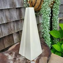 Vintage Haeger Pottery Vase Mid Century White USA #4399 Lrg Geometric Tr... - $125.00