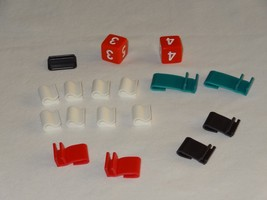 13 Dead End Drive Milton Bradley Board Game Parts Clips Dice + 1 Charact... - $9.99