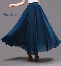 Taupe Maxi Chiffon Skirt Women Chiffon Maxi Skirts High Waist Bridesmaid Skirts image 6