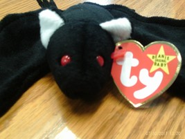 1st edition Ty Beanie Babies Radar the Black Bat, no star,no stamp, PVC - $11.99