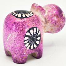 Crafts Caravan Soapstone Speckled Pink Hippopotamus Hippo Figurine Made Kenya image 4
