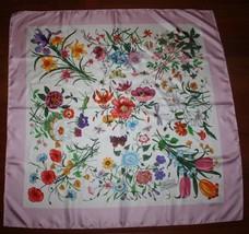 $480 Nwt Gucci Floral Silk Scarf Art By V. Accornero Shawl - $198.00