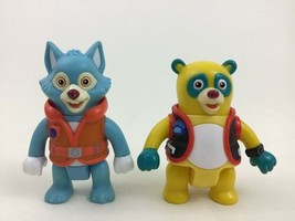 Special Agent Oso Wolfie Action Figure Lot 2pc Disney Junior Learning Curve - $18.76