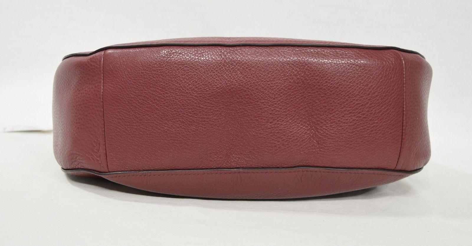 3154c9443cb0 Coach F31369 Crimson Pebbled Leather Large Hobo Gold Carriage Logo
