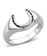 HCJ MEN'S GOOD LUCK NO STONE HORSESHOE FASHION RING SIZE 9, 10 - $15.40 CAD