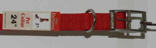 Valhoma 741 24 RD Dog Collar Red Double Layer Nylon 24 inches Pkg 1