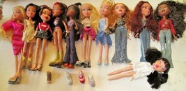 Big lot of 11 MGA BRATZ girl Dolls dressed, some with shoes - $59.99
