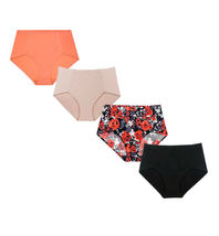 B2Body Women's Seamless High Waisted Brief Panty Underwear Pack Of Four 0903 image 4
