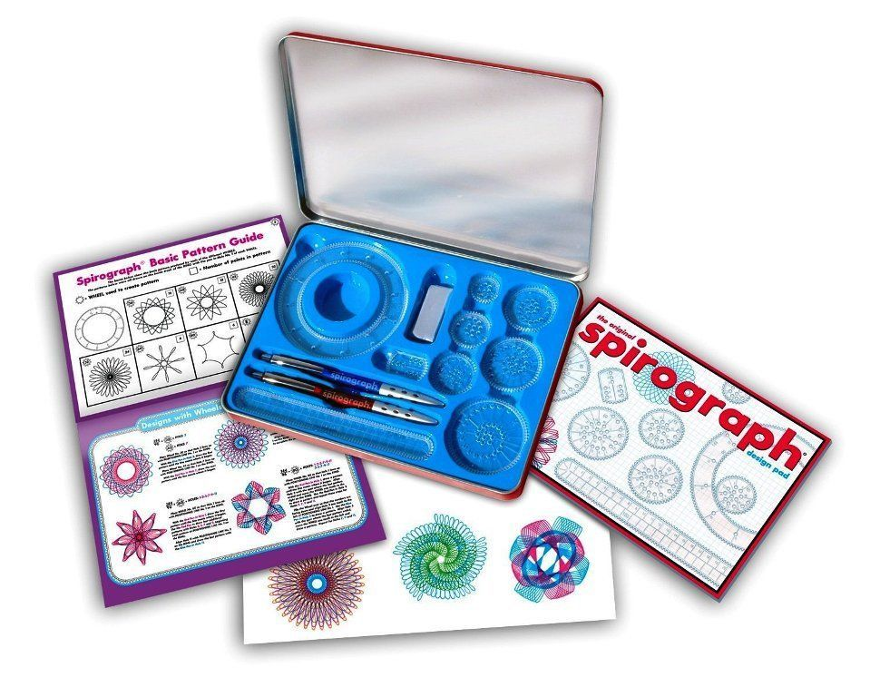 Spirograph Design Set The Original 15 Pieces Pack Kids Draw Developing Game