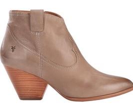 Frye Women's Reina Ash Grey Leather Western Ankle Bootie 3479258-ASH NIB image 2