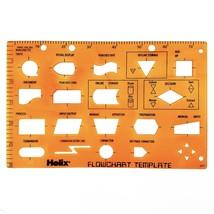 Helix - transparent modèle de pochoir pour Flowcharts et données Flow Di... - $6.28