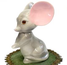 "Vintage Roselane California Pottery Gray Mouse Big Ears 5"" Tall  - $25.00"