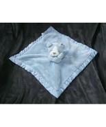 Carters Blue Puppy Dog Bulldog Security Blanket Satin Plush Lovey Toy 67208 - $42.03