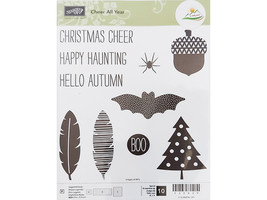 Stampin' Up! Cheer All Year Clear Stamp Set #139839 image 1