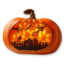 Halloween Pumpkin Party Decoration LED Lighted 3D Wall Decor Autumn Holi... - €61,92 EUR