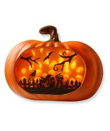 Halloween Pumpkin Party Decoration LED Lighted 3D Wall Decor Autumn Holi... - $65.16 CAD