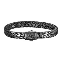 Men's Phillip Gabriel Sterling Silver Square Woven Bracelet Black Rhodium - $599.99