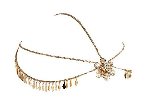 Bride Frontlet Forehead Chain Retro Tassel Headdress, Flower