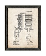 Sluice Box Patent Print Old Look with Black Wood Frame - $24.95+