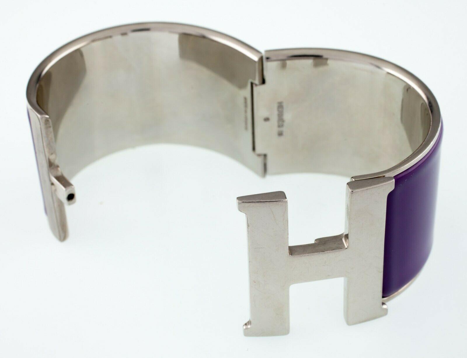 Hermès Clic Clac Violeta Extra Ancho Pulsera Nice! image 5