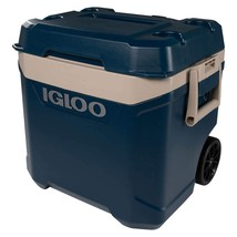 Igloo Ice Roller Cooler, Maxcold Latitude 62 Quart Rolling Cooler Telescoping Hd - $59.99