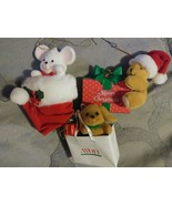 Avon Christmas Ornaments Gift Collection Peek-a-Boo Mouse Holiday Vintag... - $35.99