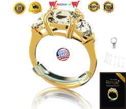 Invisible Ring Sizer 6 Pack Self Adjusting Ring Size Reducer Set Jewelry... - $15.99