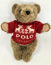 Vintage 1998 POLO RALPH LAUREN Teddy Bear Plush Stuffed Animal With Sweater - $19.99