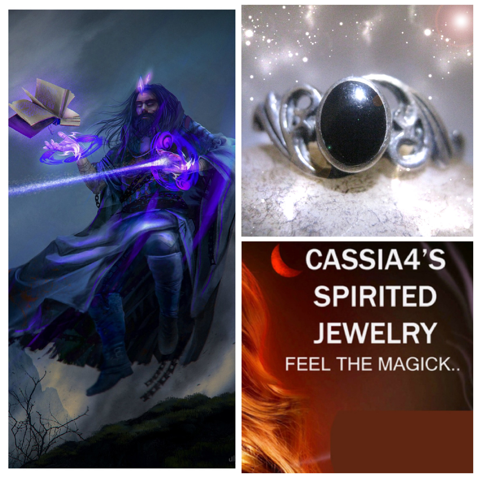 Primary image for Haunted RING DARKEST NIGHT VAMPIRE WIZARD SPIRIT VESSEL MAGICK WITCH CASSIA4