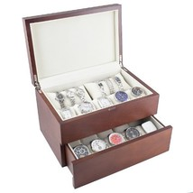 Caddy Bay Collection Vintage Wood Watch Case Display Storage Box with So... - $114.87