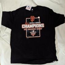 SF San Francisco Giants 2010 World Series Champions T-Shirt XL Black MLB... - $23.36
