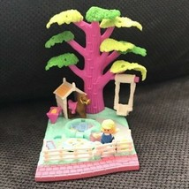 1994 Vintage Polly Pocket Shady Tree Playset 100% COMPLETE RARE Doll & H... - $49.49