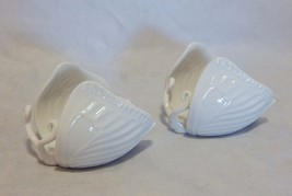Vintage Fitz & Floyd White Butterfly Pair of Candlesticks - £15.95 GBP