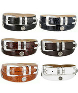 North Carolina Men's Genuine Leather Belt with Golf Concho in Various Co... - $35.95