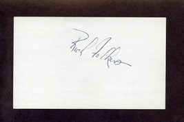 RICH FOLKERS Signed 3x5 Index Card Mets Cardinals Padres Autograph - $5.83