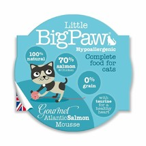 Little Big Paw Gourmet Wet Cat Food, Tender Salmon Mousse 8 x 85g - $20.29