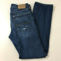 ABERCROMBIE & FITCH Kids Slim Straight Distressed Denim Blue Jeans Kids ... - $16.78
