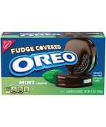 NEW Nabisco Oreo Fudge Covered Mint Chocolate Sandwich Cookies FREE SHIP... - $11.87
