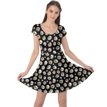 Women's Dice Doodle Printed Elastic Stretchy Swing Cap Sleeve Dress Size XS-5XL - $28.99+