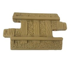 1 FISHER PRICE GEO TRAX SHORT TAN CONNECTOR TRACK ROAD PLASTIC REPLACEME... - $4.69