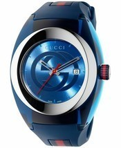 Latest Gucci Stainless Steel WYNC Quartz Mens Watch YA137104 - $304.52 CAD