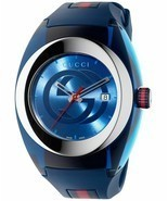 Latest Gucci Stainless Steel WYNC Quartz Mens Watch YA137104 - $294.25 CAD