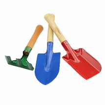 HiKin Kid's 3-Piece Garden Tool Set with Trowel, Rake and Shovel, 2Pack ... - $12.86