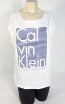Calvin Klein White Sleeveless Long Tee T-Shirt Top Women's Large L NWT - $37.12